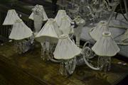 Sale 8058 - Lot 1074 - Pair of 5 Branch Chandeliers