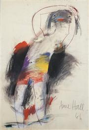 Sale 8466A - Lot 5074 - Anne Hall (1946 - ) (2 works) - Male Model, 1966; Sketch 101 x 70cm, each (sheet size)