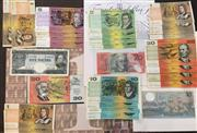 Sale 8465J - Lot 310 - AUSTRALIAN BANK NOTES; $10 Commemorative, Mint $20, $20 Hargrave Centenary (in book), 5 Pound Coombs/Wilson, 4 X $20, 3 X $10, 4 X $...