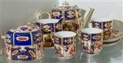 Sale 8470H - Lot 162 - A Royal Crown Derby Imari tea for 2 set, with an extra cup, damage to sugar bowl lid