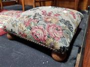 Sale 8925 - Lot 1014 - A shaped top kneeling stool with cut velvet upholstery