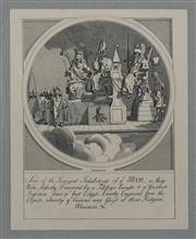 Sale 9080J - Lot 172 - A Hogarth engraving The Principal Inhabitants of the Moon, this the Heath edition 1822 was the last time the original Hogarth plat...