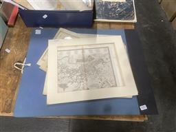 Sale 9101 - Lot 2082 - Group of Assorted Antique Maps of English Counties together with a Folio of Early Reproduction Maps of the British Isles AD1000-AD1579