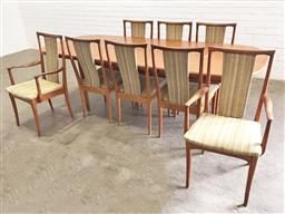 Sale 9151 - Lot 1137 - Parker nine piece dining setting incl. extension table & eight chairs, two being carvers (table - h:74 l:200 w:99cm)