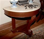 Sale 8127A - Lot 5 - A Victorian Stained Mahogany Marble Top Wash Stand,