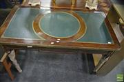 Sale 8386 - Lot 1084 - leather Insert Writing Desk with Metal Mounts