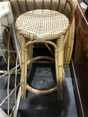 Sale 8893 - Lot 1060 - Pair of Cane Stools