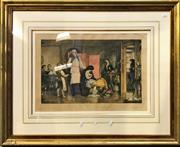 Sale 8945 - Lot 2101 - Hand Coloured Etching R. MacBeth - Sacrifice, 40.5x48.5cm -