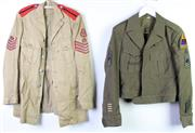Sale 8952M - Lot 640 - A Set Of Three Brown Military Tunics Incl British And American