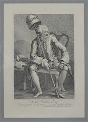 Sale 9080J - Lot 173 - A Hogarth engraving titled John Wilkes Esq. published 1763, this the Heath edition 1822 was the last time the original Hogarth pla...