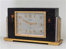Sale 9195H - Lot 21 - A Hardy Brothers Art Deco 8 Day mantle clock, Width 18cm