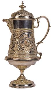 Sale 7974 - Lot 66 - Silver Plated Stein