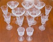 Sale 8346A - Lot 82 - A collection of Waterford drinking glasses comprising 5 champagne bowls, 6 sherry glasses