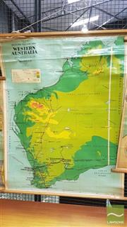 Sale 8364 - Lot 1072A - Vintage School Map of Western Australia