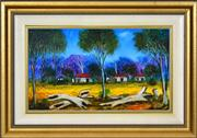 Sale 8382 - Lot 553 - Kevin Charles (Pro) Hart (1928 - 2006) - Logs in a Landscape 28.5 x 49.5cm
