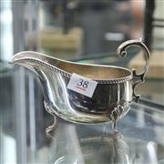 Sale 8379 - Lot 38 - English Hallmarked Sterling Silver Gravy Boat (Weight - 156g)