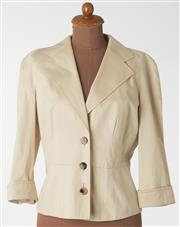 Sale 8550F - Lot 126 - A single breasted Escada cinched waist beige jacket, size 36.