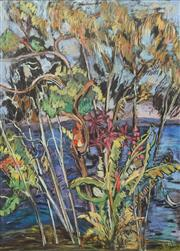 Sale 8633A - Lot 5014 - Jo Riley (Active 1975 - 1988) - Blue Lagoon, Sydney Harbour 74 x 53cm
