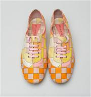 Sale 8740F - Lot 211 - A pair of Emilio Pucci printed canvas and leather trim sneakers, size 37.5 (with branded box)