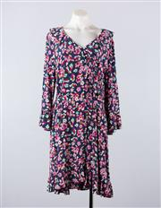 Sale 8760F - Lot 156 - A brand new & Other Stories, Paris floral printed dress with waist tie, size 42 (RRP $200)