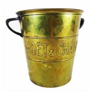 Sale 8828A - Lot 32 - French Art Deco Moet and Chandon brass champagne bucket. 19.5cm