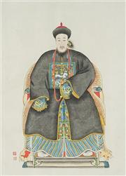 Sale 8847A - Lot 5091 - Chinese School (Two Works) - Ancestral Portraits 41 x 30cm each