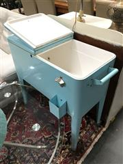 Sale 8851 - Lot 1018 - Teal Mobile Ice Chest