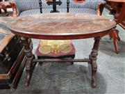 Sale 8925 - Lot 1019 - A victorian walnut oval top occasional table with stretcher base