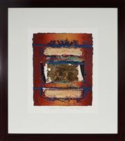 Sale 8961 - Lot 2080 - Jan Neil Landscape 1995mixed media collage, 73 x 64cm (frame), signed and dated lower right