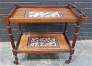 Sale 9009 - Lot 1010 - Timber Two Tier Tea Trolley