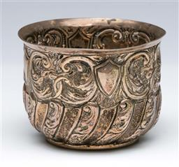 Sale 9098 - Lot 280 - Heavily Embossed Sterling Silver Bowl (Dia9cm)