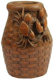Sale 8004 - Lot 3 - Bamboo Carved Brush Pot