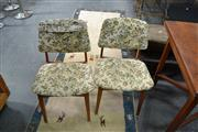 Sale 8013 - Lot 1227 - Pair Of 1970s Dining Chairs In Floral Upholstery