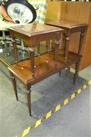 Sale 8105 - Lot 1044 - Coffee Table w 2 Matching Side Tables