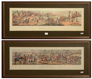 Sale 8127A - Lot 21 - After the Original, a Pair of Hunting Prints, - Breaking Cover & Meeting at Cover
