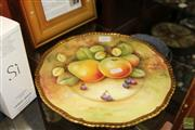 Sale 8236 - Lot 57 - Coalport Hand Painted Fruit Plate Signed by Mary Denis