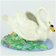 Sale 8360 - Lot 68 - Clarice Cliff Swan Posy Holder
