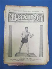 Sale 8419A - Lot 41 - Boxing 1920s - a box of Boxing (UK) 1922-1924, all complete