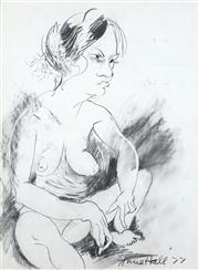 Sale 8466A - Lot 5077 - Anne Hall (1946 - ) - Sketch - Female Model, 1977 76 x 56cm (sheet size)