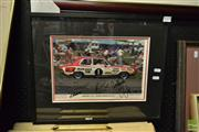 Sale 8503 - Lot 2085 - Framed Bathurst 1973 Signed Photographic Print - Holden Torana GTR XU-1