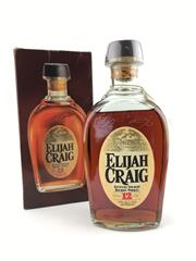 Sale 8553 - Lot 2010 - 1x Elijah Craig Distillery 12YO Kentucky Straight Bourbon Whiskey - old bottling, 47% ABV, 750ml in box