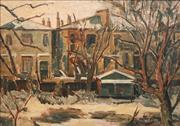 Sale 8781 - Lot 523 - Elliott Seabrook (1886 - 1950) - Buildings with Farmhouses 59 x 83.5
