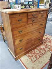 Sale 8889 - Lot 1036 - Victorian Ash Chest of Seven Drawers, on plinth base