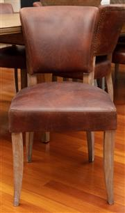 Sale 8863H - Lot 82 - A set of eight leather, German Art Deco dining chairs, each Height 88cm, Width 47cm, Depth 55cm