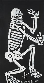 Sale 8901 - Lot 534 - Clifford Possum Tjapaltjarri (c1932 - 2002) - Skeleton no.10 61 x 121 cm (stretched and ready to hang)