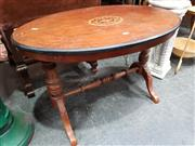 Sale 8925 - Lot 1077 - A victorian walnut oval top occasional table with stretcher base