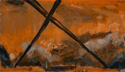 Sale 9244A - Lot 5018 - LOUISA CHIRCOP Saviour, 2003 oil on plywood 27 x 47 cm signed, dated and titled verso