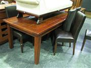 Sale 7937A - Lot 1102 - Extension Dining Setting inc Extension Table & 8 Black Chairs