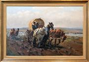 Sale 8259 - Lot 588 - János Viski (1891 - 1987) - Crossing Through Country 60 x 91.5cm