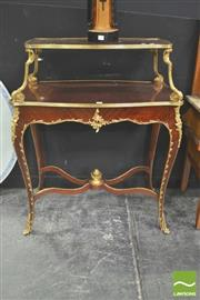 Sale 8302 - Lot 1006 - Console Table with Gilt Highlights